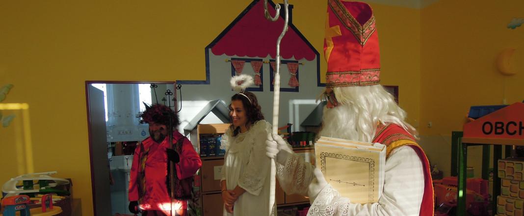 Návštěva Mikuláše,čerta a anděla
